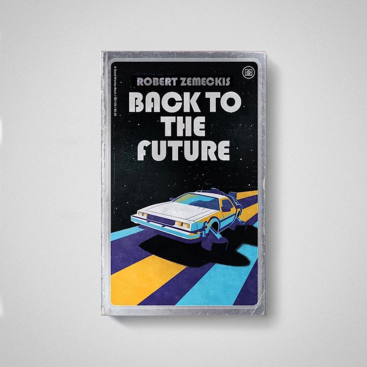 Back to the Future as Old Books by Matt Stevens