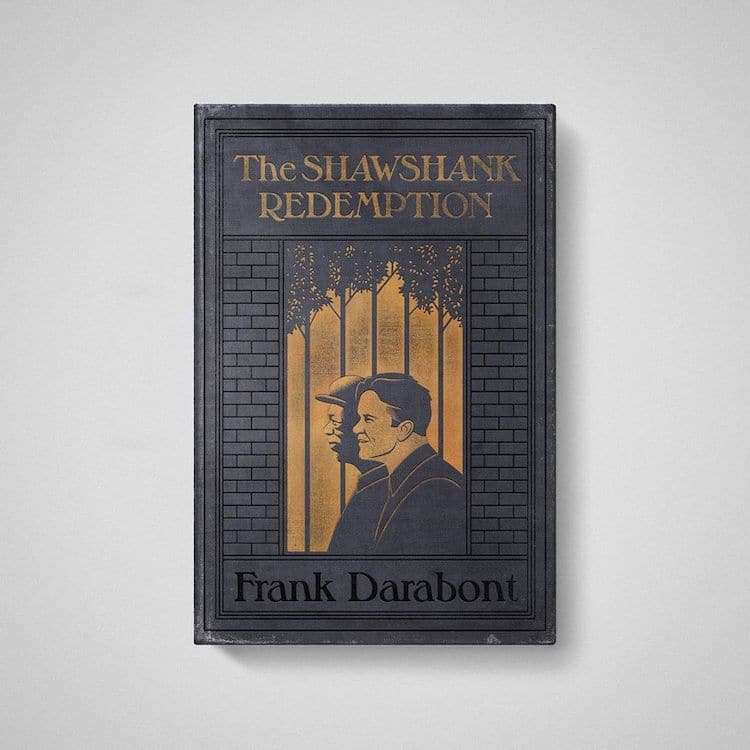 Shawshank Redemption as Old Books by Matt Stevens