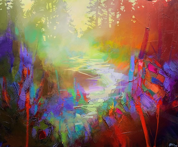 Colorful Abstract Art Captures the Dappled Sunlight of Canadian ...