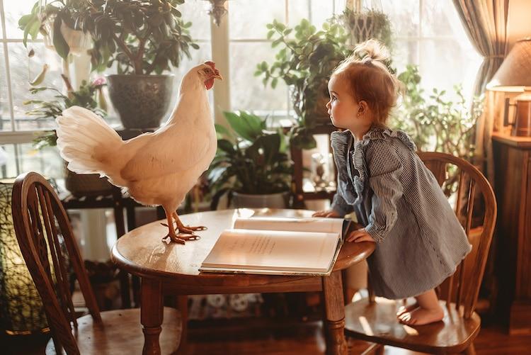 Fotos de niños con animales bebés