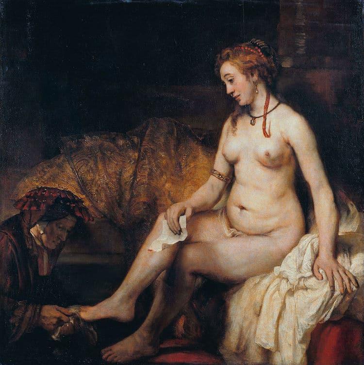 Rembrandt, Betsabé con la carta de David