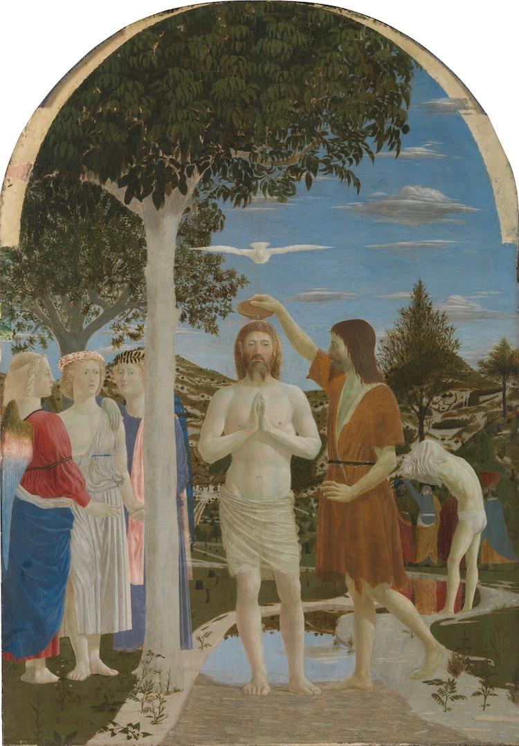 Piero della Francesca, El bautismo de Cristo