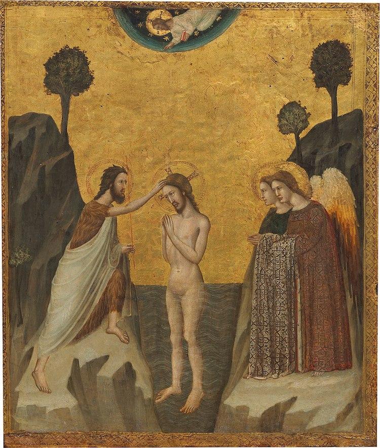 Giovanni Baronzio, El bautismo de Cristo