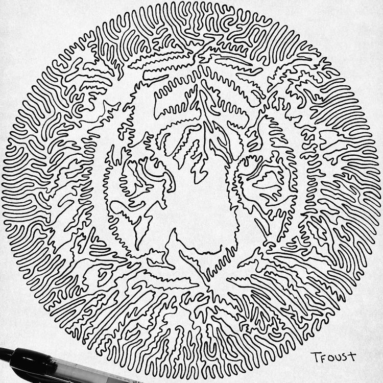 Dibujo de línea continua de Tyler Fourst