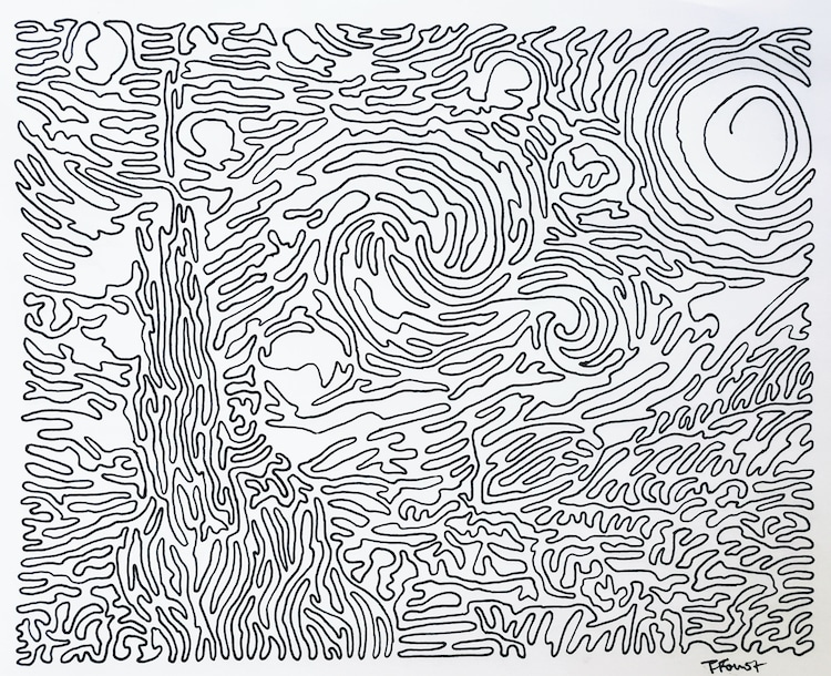 Continuous Line Drawing by Tyler Fourst