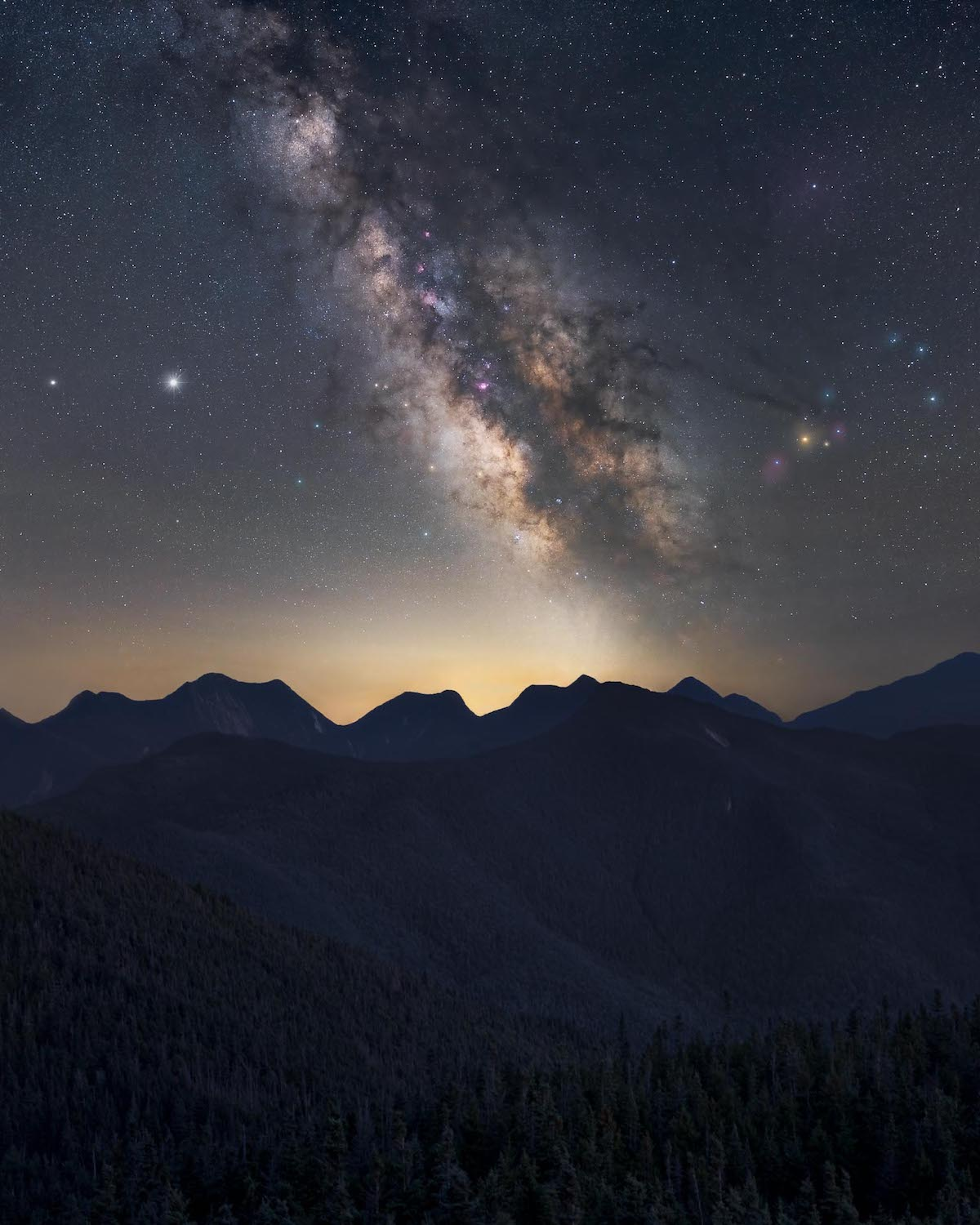Milky Way Over the Adirondack Mountains