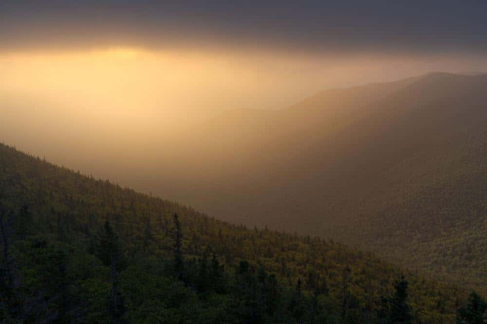 Beautiful Light in the Adirondack Mountains