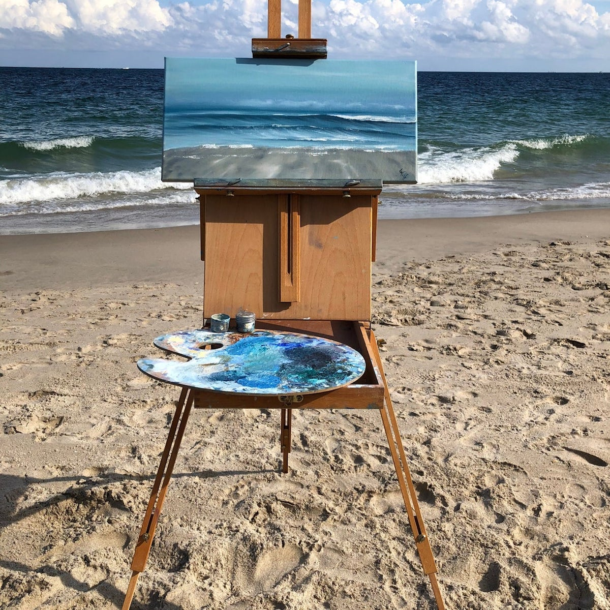 Painting of Water by Eva Volf