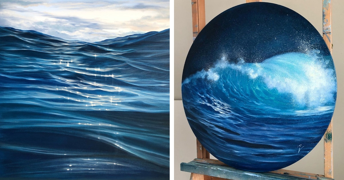 Immersive Ocean Paintings Capture the Shimmering Beauty of the Endless Waves