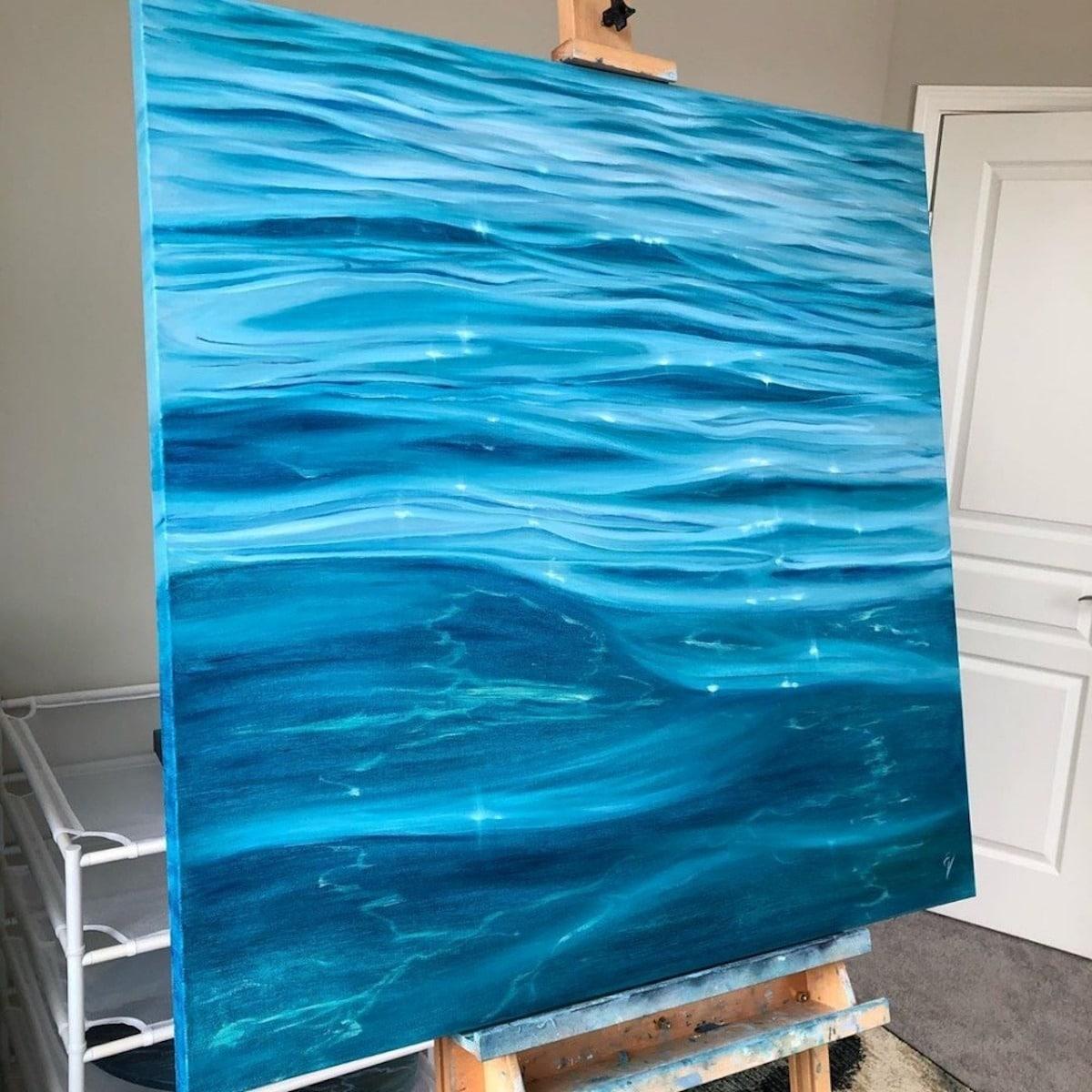 Ocean Paintings by Eva Volf