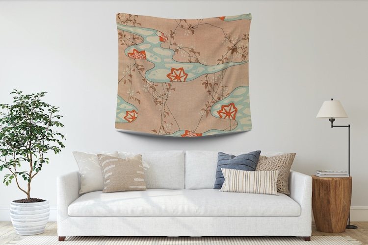 Contemporary Japanese Style Wall Tapestry