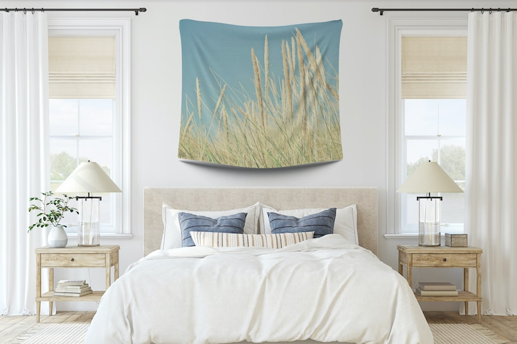 Modern Wall Tapestry in a Bedroom