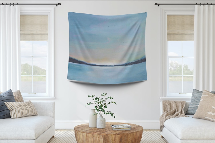 Wall Tapestry of a Sunset