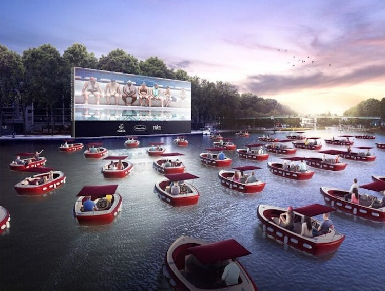 Floating Cinema for Paris Plages 2020