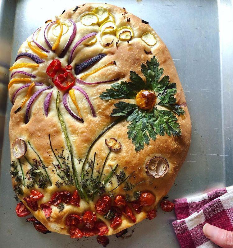 Bánh mì hoa ép