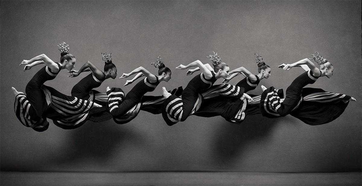 Ballet Dancers Leaping in Motion
