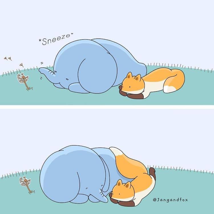 Heartwarming Animal Comics by JangandFox Studio