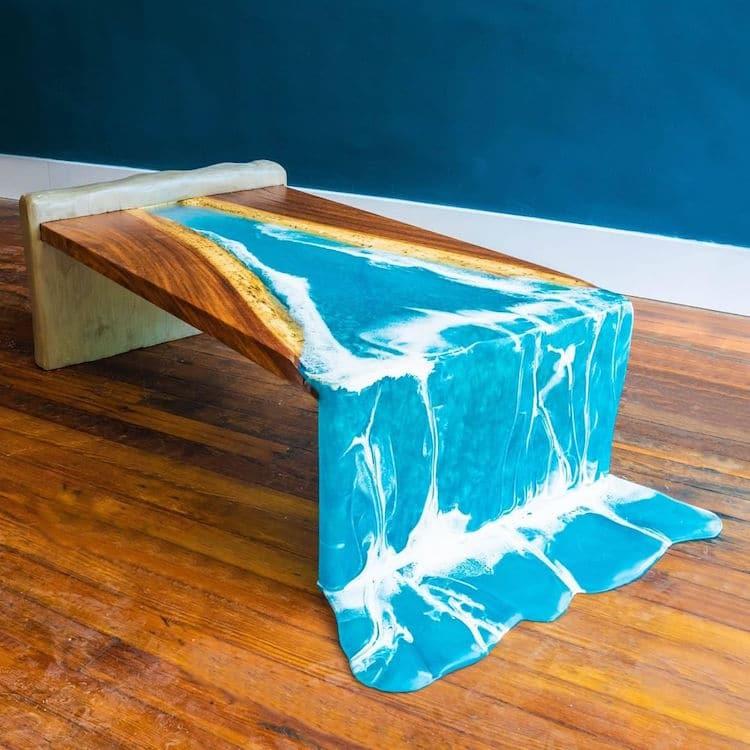River Waterfall Table By John Malecki