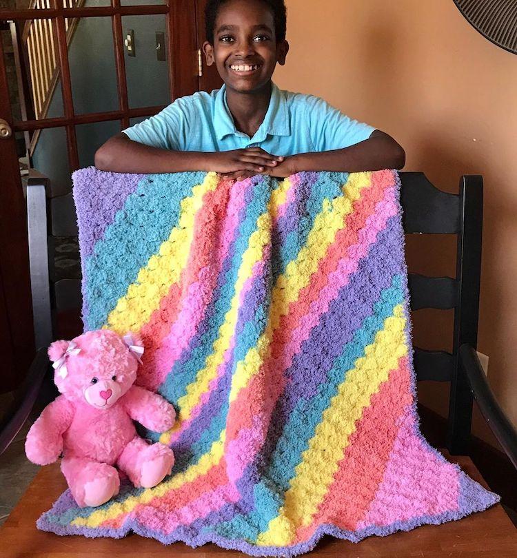 Jonah's Hand Crochet Art