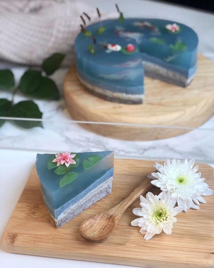 Koi Pond Cake by Grace / petrichoro