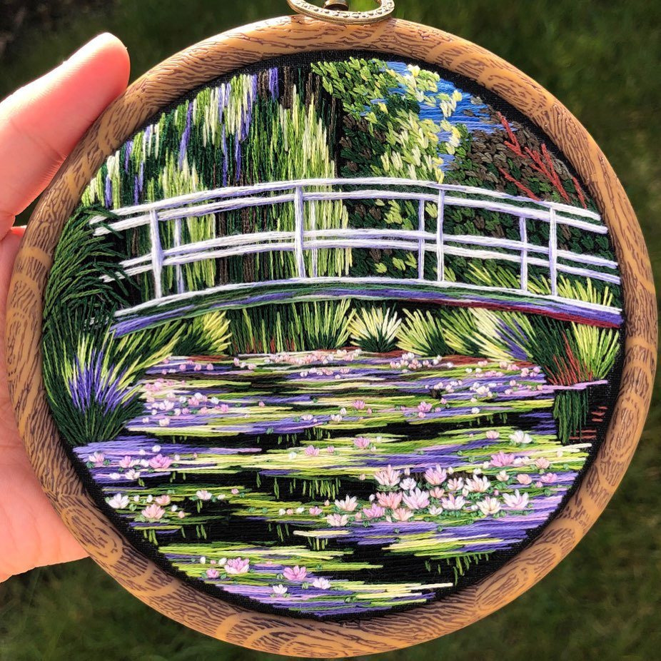 Landscape Embroidery by Sew Embroidery