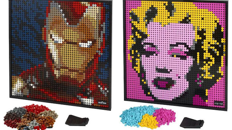 Sets de pósters de LEGO de Madonna y Iron Man