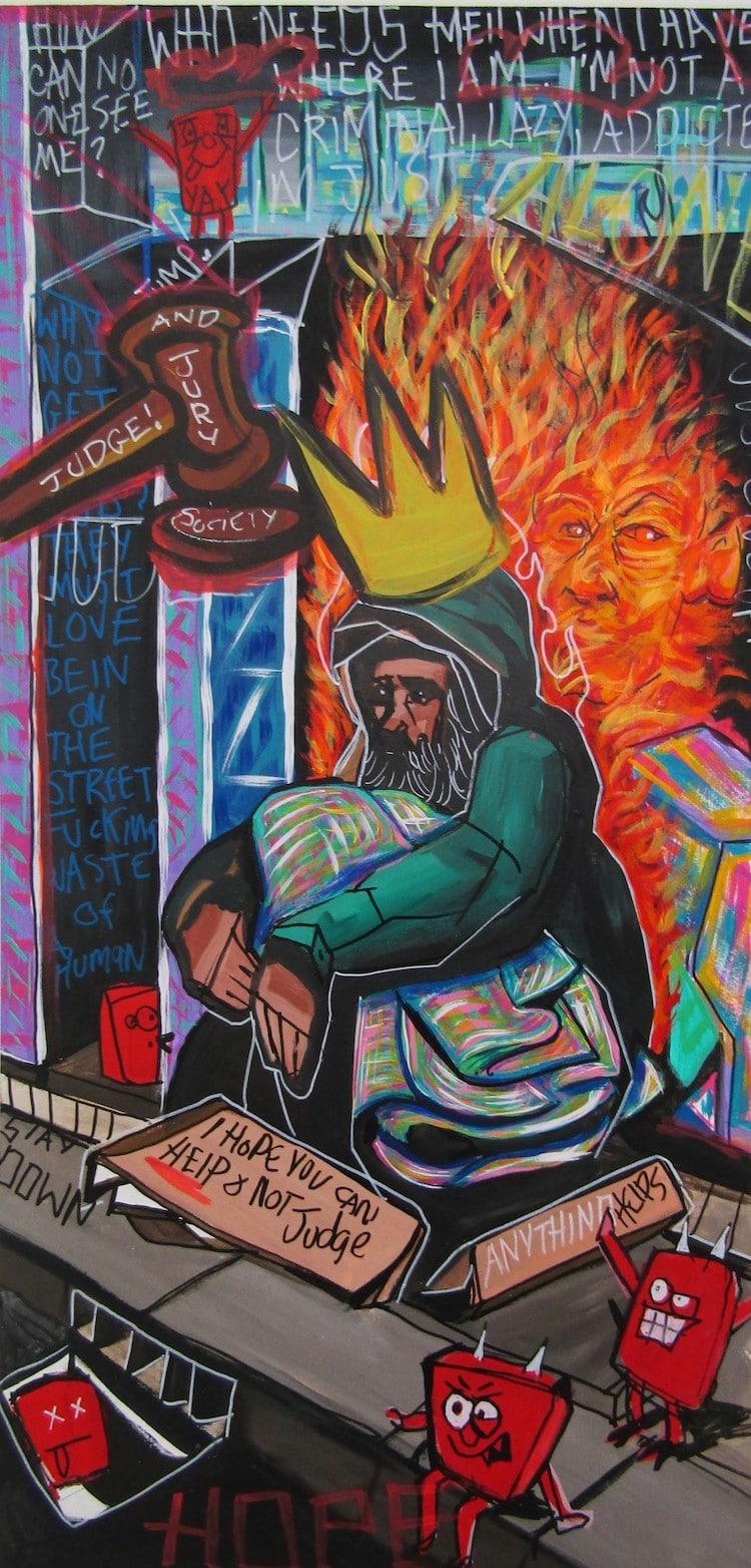 Lucas Joel Macauley Arte sobre vida en las calles