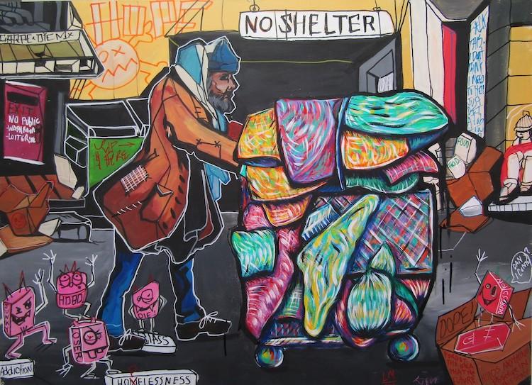 Lucas Joel Macauley arte sobre adiccion