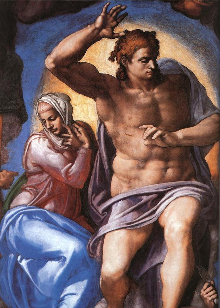 Christ and the Virgin Mary in Michelangelo's The Last Judgment