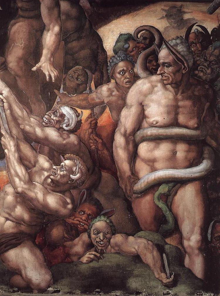 Biagio da Cesena as Minos in The Last Judgment
