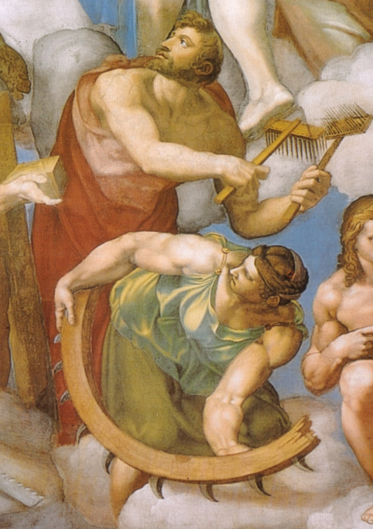 St. Catherine in Michelangelo's Last Judgment