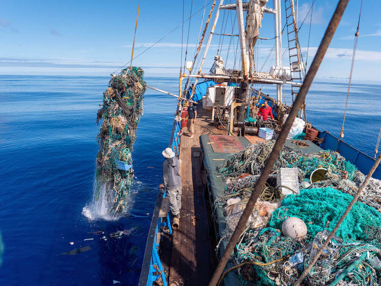 Fishing Nets Being Hauled Out of the Great Pacific Garbage Patch