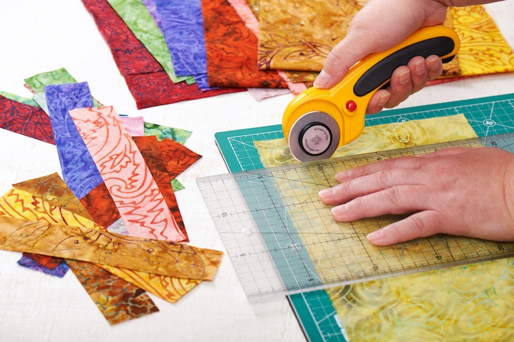 Cutting Patchwork Quilt