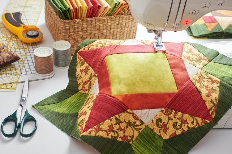 Sewing Patchwork Quilt