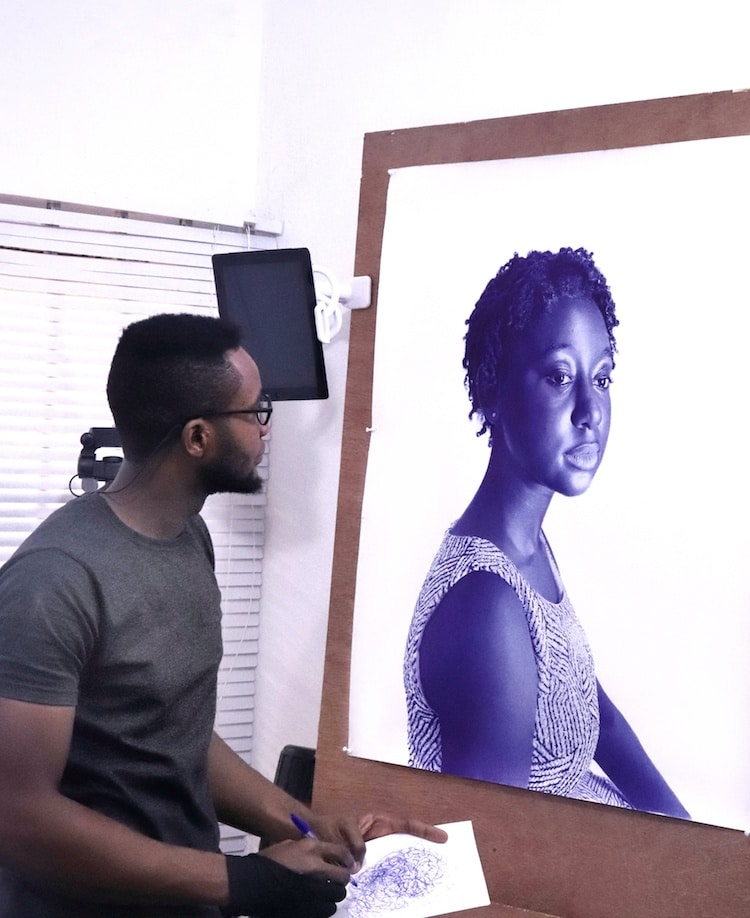 Ballpoint Drawings by Patrick Onyekwere