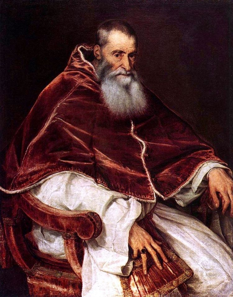 Pope Paul III by Titian