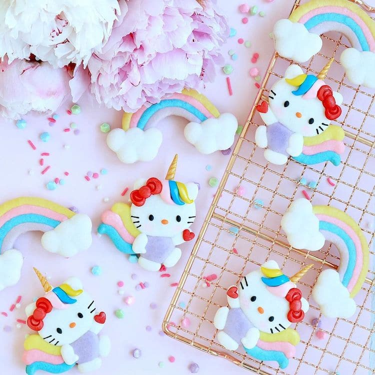 Hello Kitty Macaron Cookies