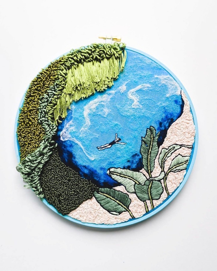 Landscape Embroidery by Suter Design Co