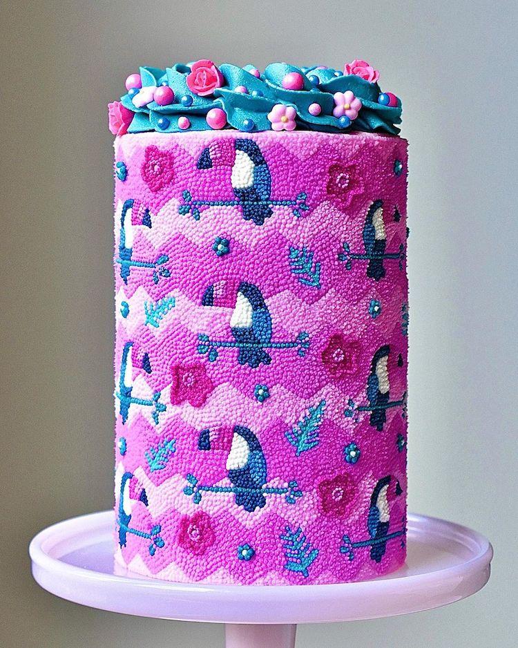 Beaded Cake Art