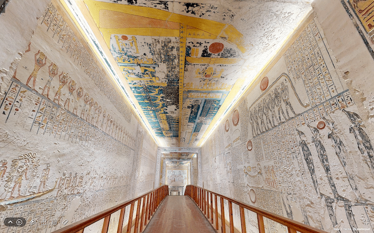 Tomb of Pharaoh Ramesses VI in Egypt