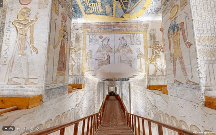 Virtual Tour of Tomb of Pharaoh Ramesses VI in Egypt
