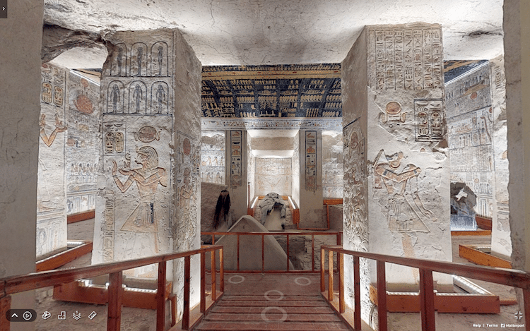 Virtual Tour of King Ramesses VI Tomb in the Valley of the Kings