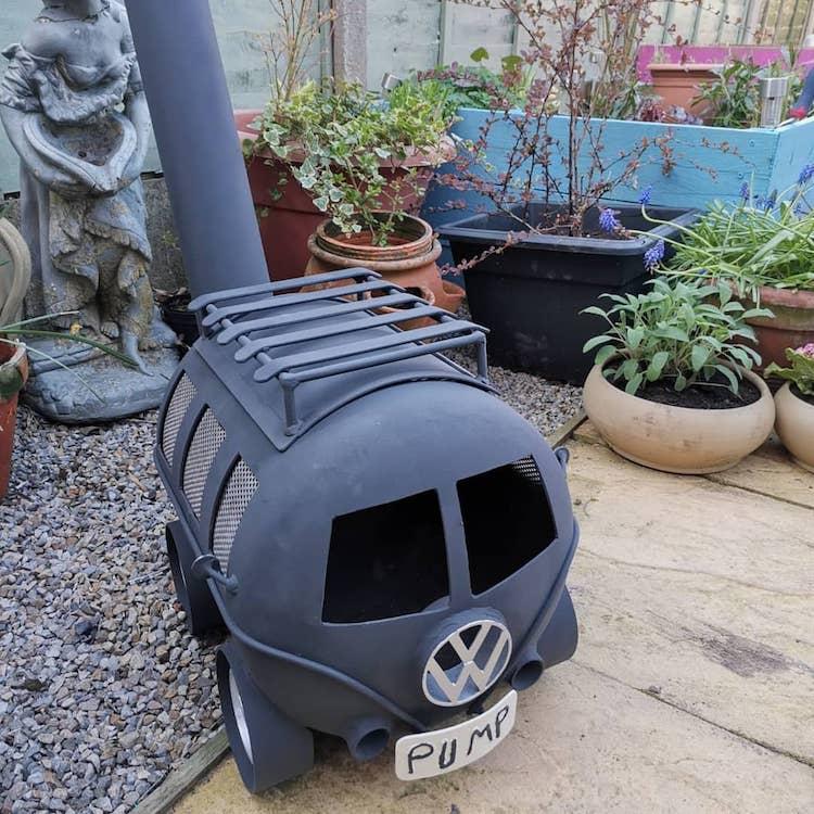 Volkswagen Camper Van Wood Burner
