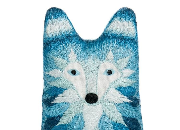Wolf Embroidery Kit