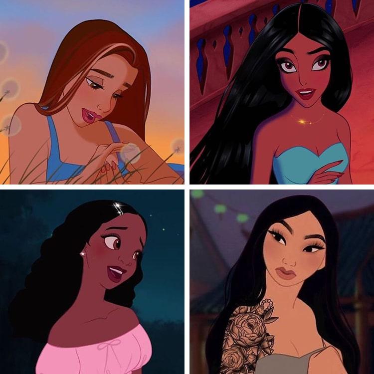 Disney Princess Makeover by Yudelmis San Emeterio