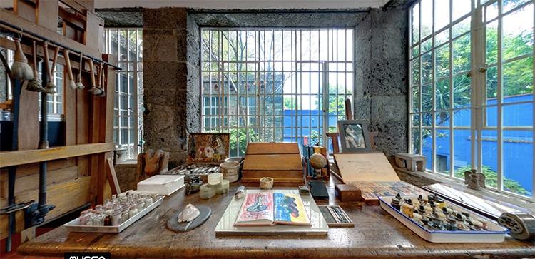 Estudio en el Museo Frida Kahlo