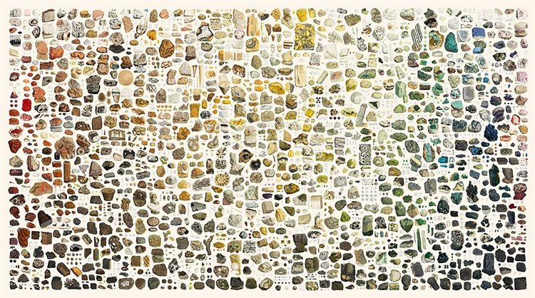 Collage British And Exotic Minerals Nicholas Rougeux