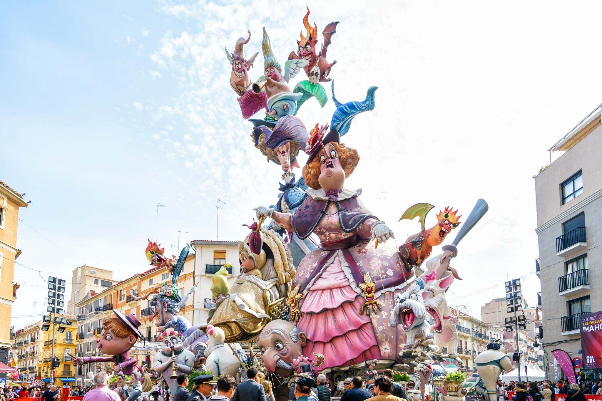 Escultura en las Fallas de Valencia