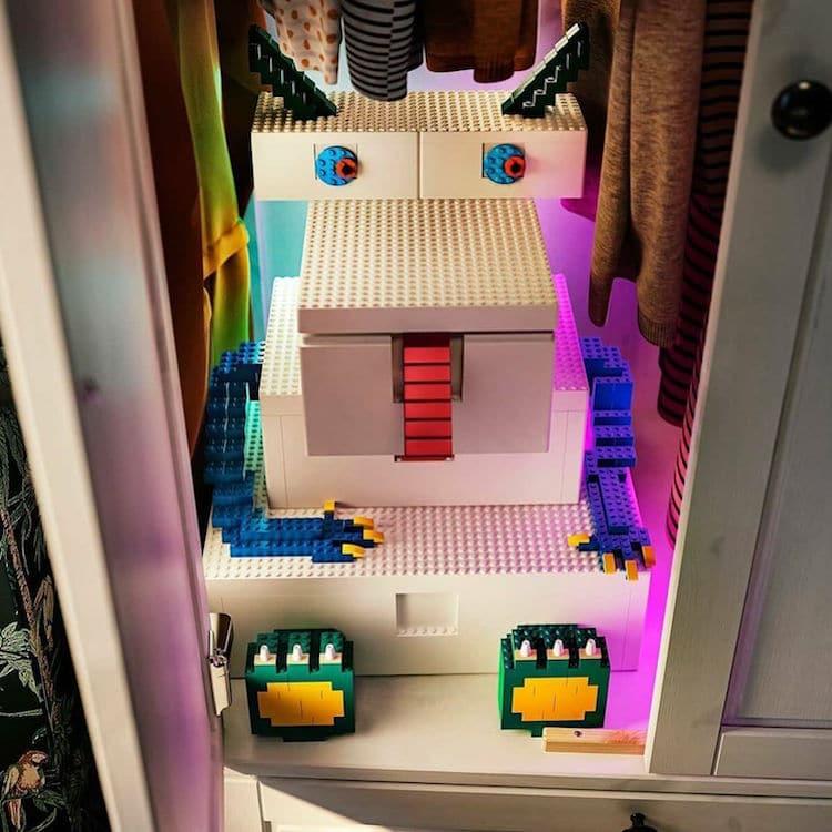 LEGO and IKEA made playful storage bin's