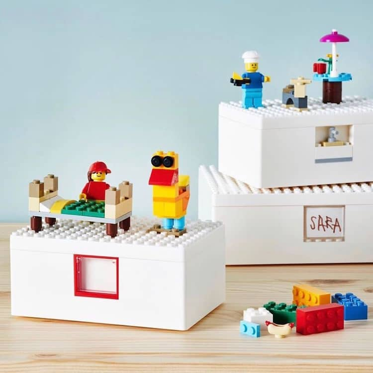 LEGO and IKEA made playful storage bin's for kids and adults